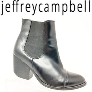 Jeffrey Campbell Womens Leather Chelsea Ankle Boot